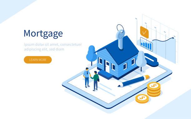 ilustrações, clipart, desenhos animados e ícones de hipoteca - empréstimo