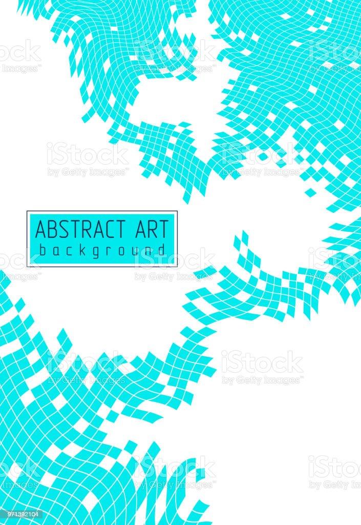 Mosaik Kunst Abstrakte Hintergrund Vektor 3d Dreidimensionale