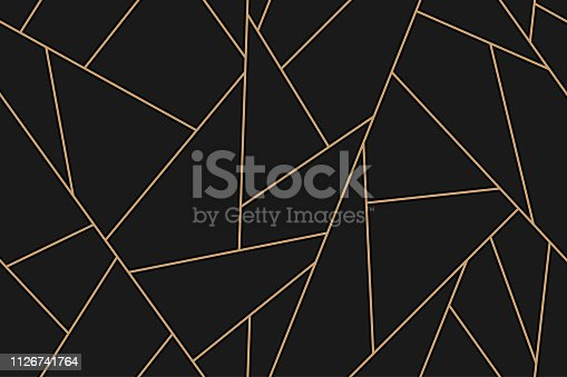 mosaic black and gold background in vector