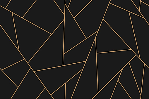 mosaic black and gold background clipart