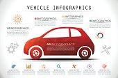 Mosaic Car Infographics