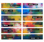 Mosaic colorful banner background