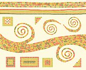 Mosaic patterns and design elements. Download includes an XXXL JPEG file (20 in. x 16.3 in. at 300 dpi).