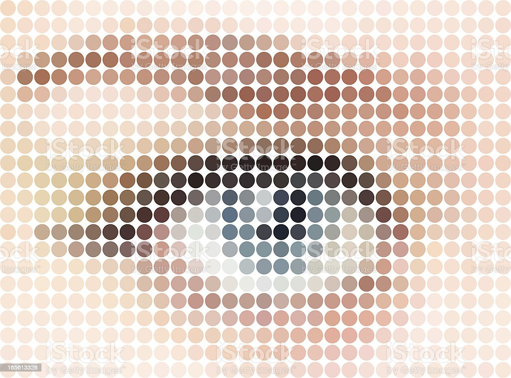 Mosaic Eye vector art illustration