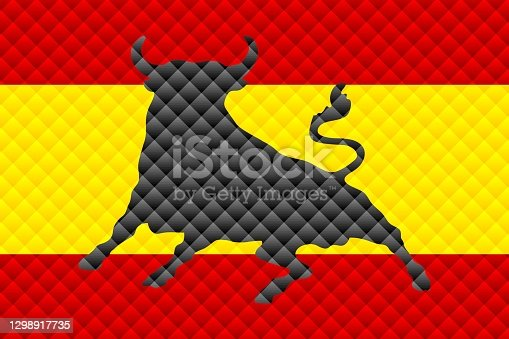 istock Mosaic flag of the Spain 1298917735