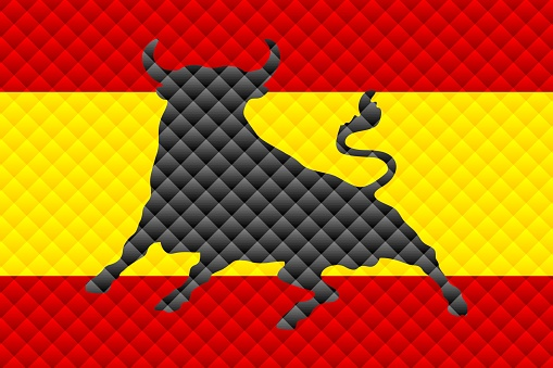 Mosaic flag of the Spain