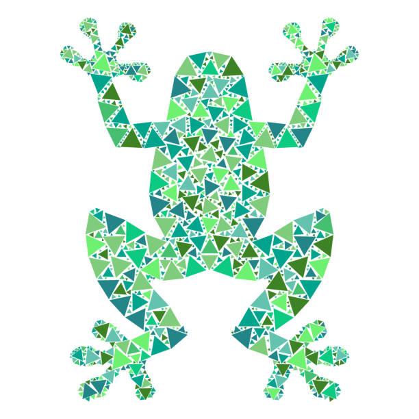 mosaic frog. - gecko stock illustrations, clip art, cartoons, & icons