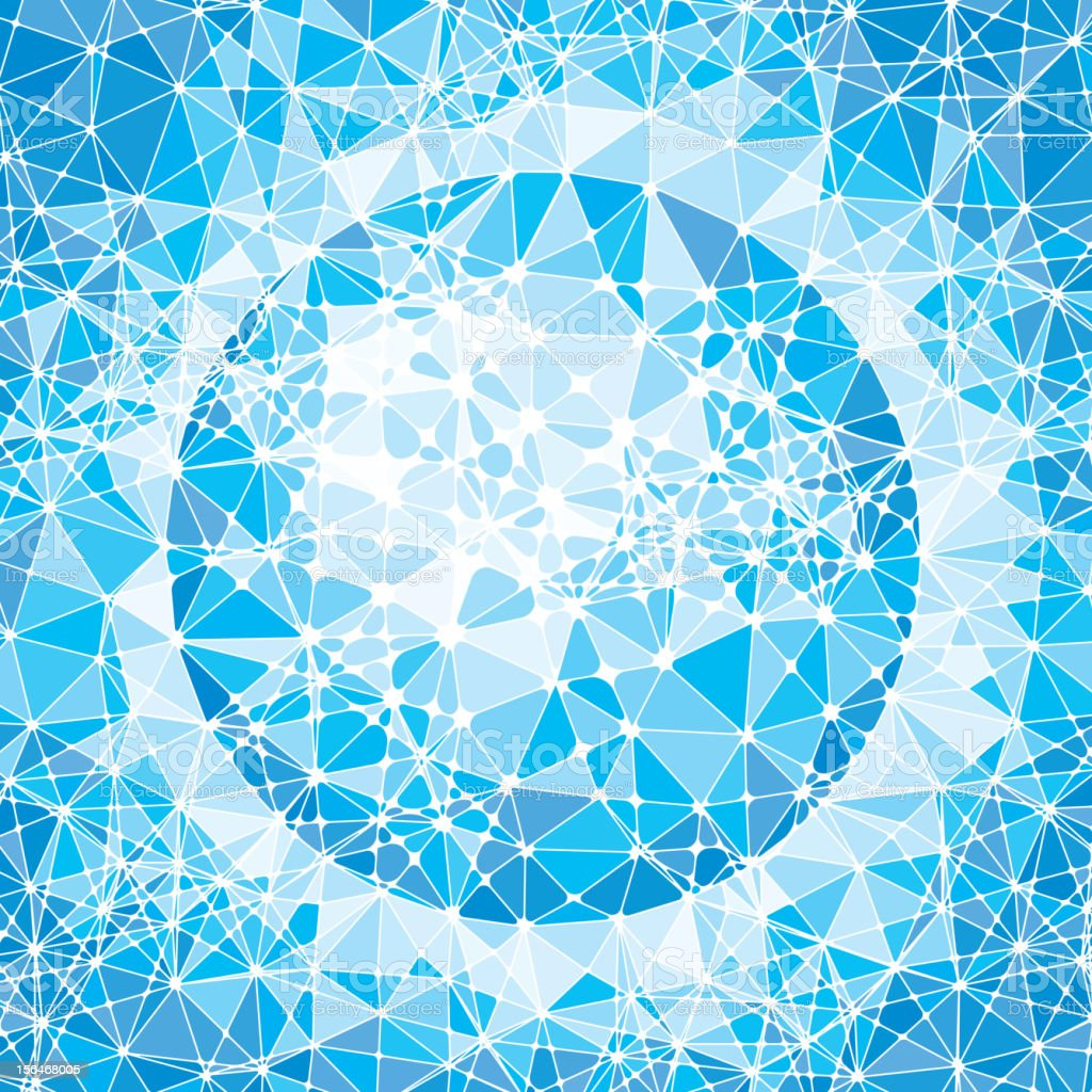 Mosaic globe royalty-free stock vector art