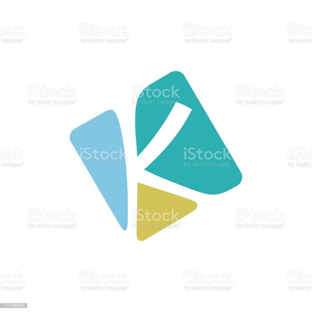 Mosaic Initial/Monogram K design - Векторная графика Абстрактный роялти-фри