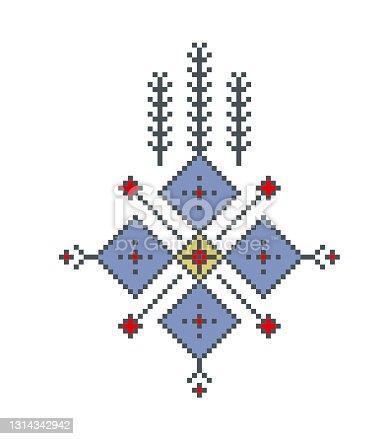istock Mosaic kilim theme stock illustration 1314342942