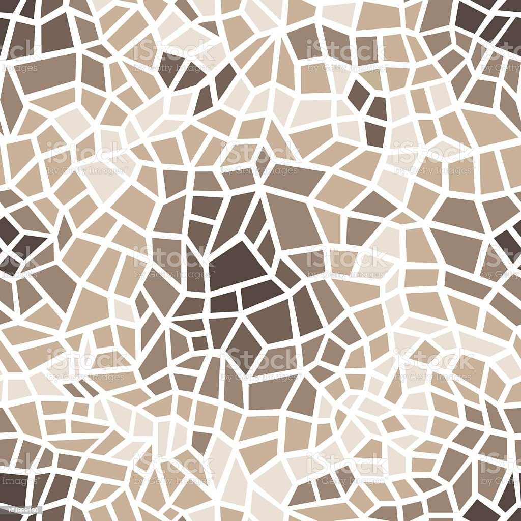 A mosaic pattern in a glass window that's light brown mainly vector art illustration