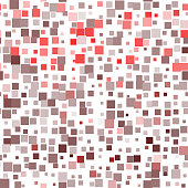 Mosaic red seamless pattern on white background. Vector