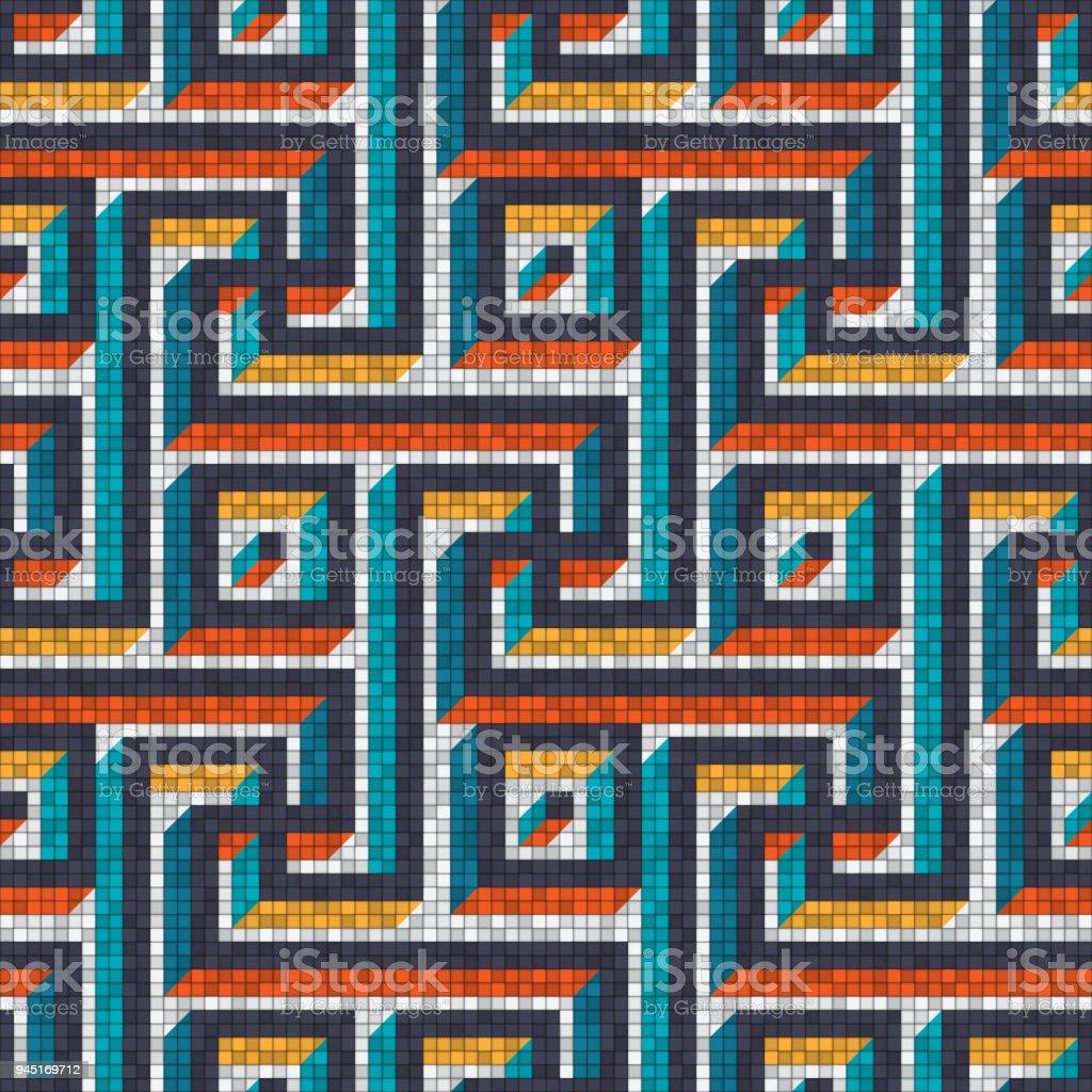 Attraktiv Mosaik Nahtlose Muster Im Antiken Römischen Stil Lizenzfreies  Mosaiknahtlose Muster Im Antiken Römischen Stil Stock
