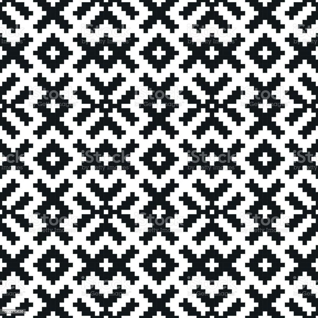 Ilustración de Mosaico De Patrones Sin Fisuras Textura Geométrica ...