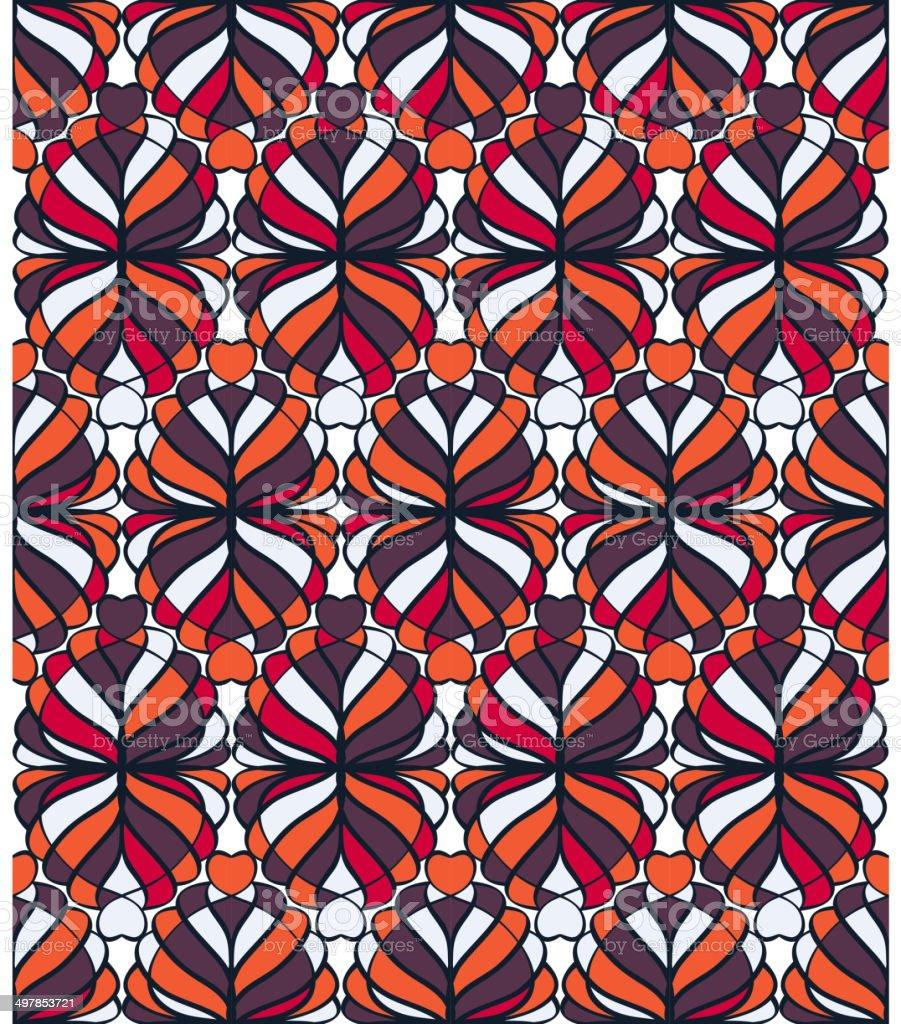 Mosaic Seamless Pattern vector art illustration