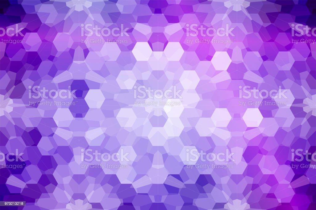 mosaic stainedglass window purple blue color vector illustra stock