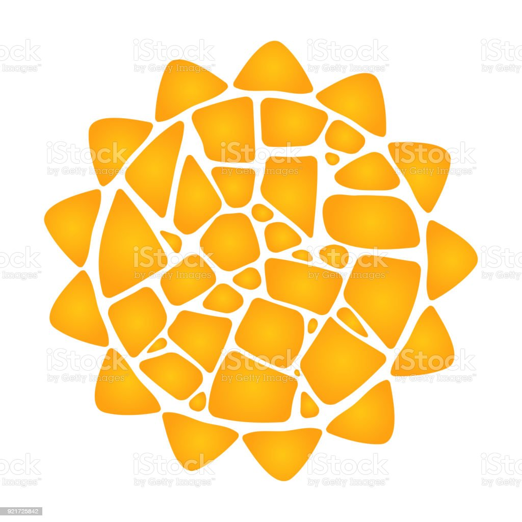 モザイク スタイル太陽 - アイコンのベクターアート素材や画像を多数ご