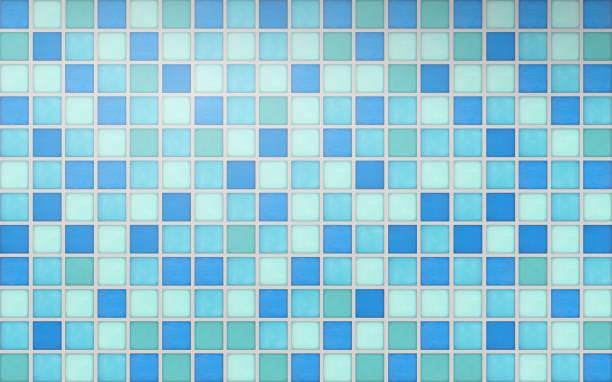 Mosaic tiles ceramic vector Realistic mosaic tiles in vector format bathroom patterns stock illustrations