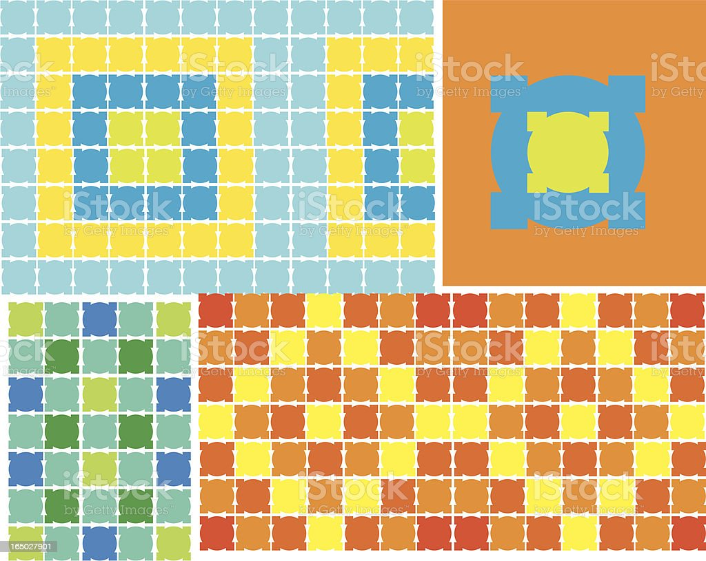 Mosaic Tiles - Vector royalty-free stock vector art