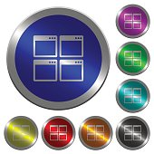 Mosaic window view mode luminous coin-like round color buttons