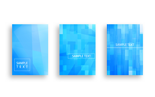 Mosaic-style cover design with blue abstracts.