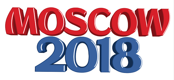 Moscow 2018 Russia Theme Sign