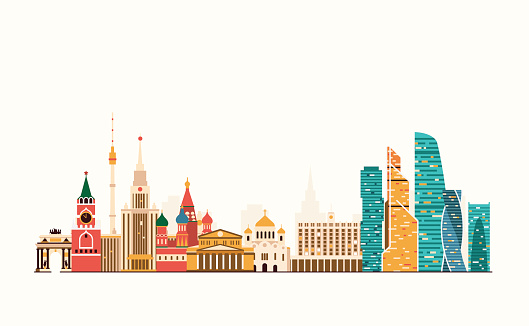 Moscow abstract skyline