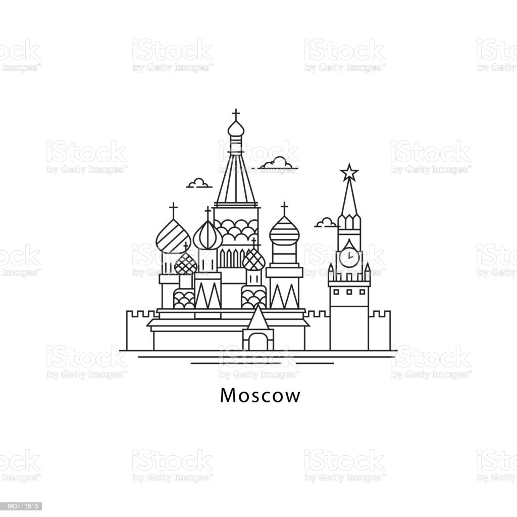 Moscow City Icon Isolated On White Background Moscow Line Vector