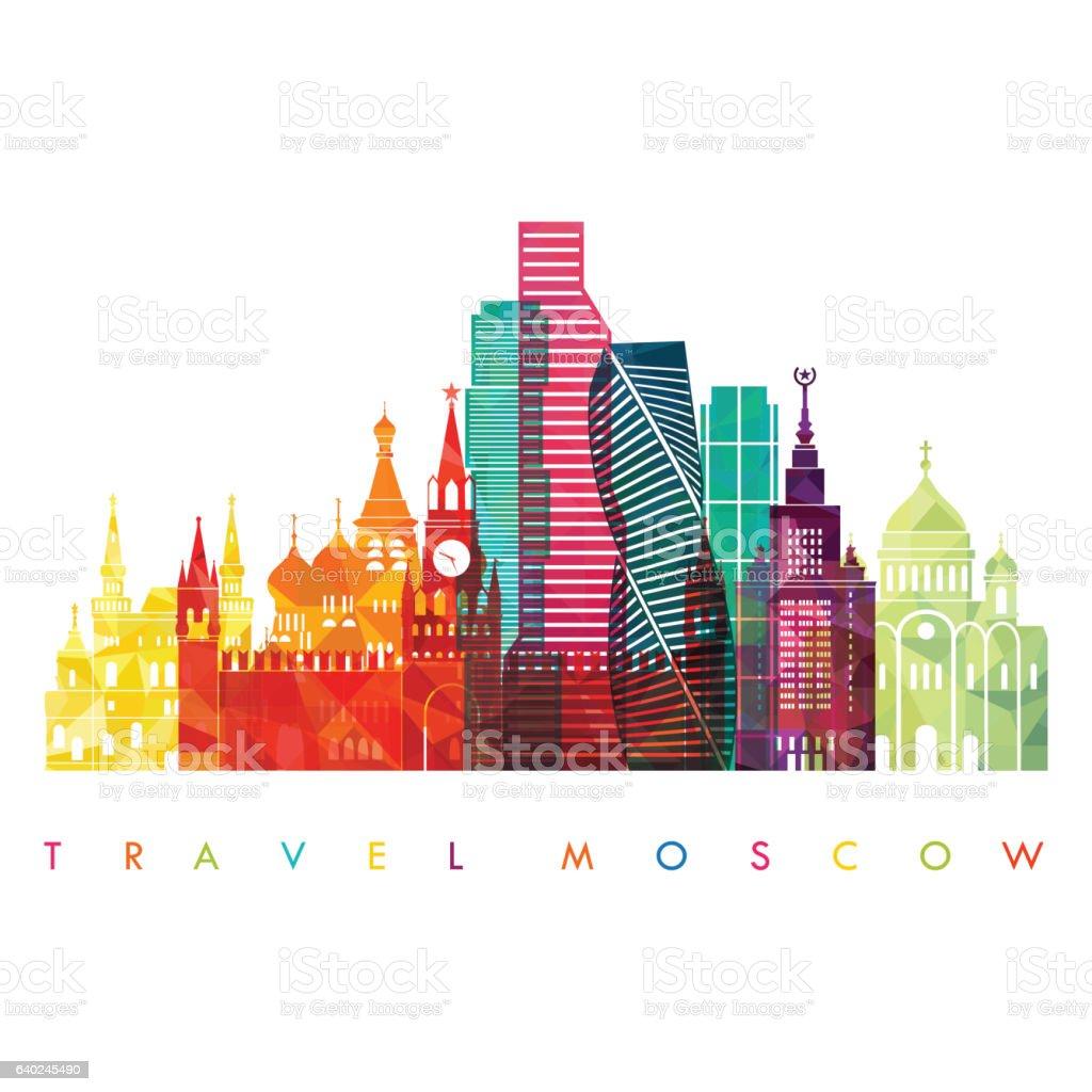 Moscow detailed skyline . Vector illustration vector art illustration