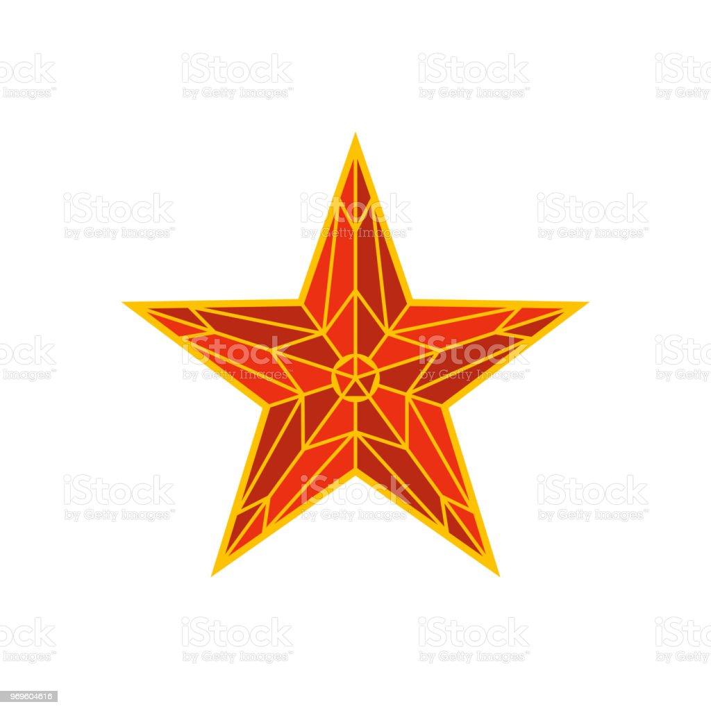 Moscow Kremlin red star. Spasskaya tower of the Kremlin on red square...