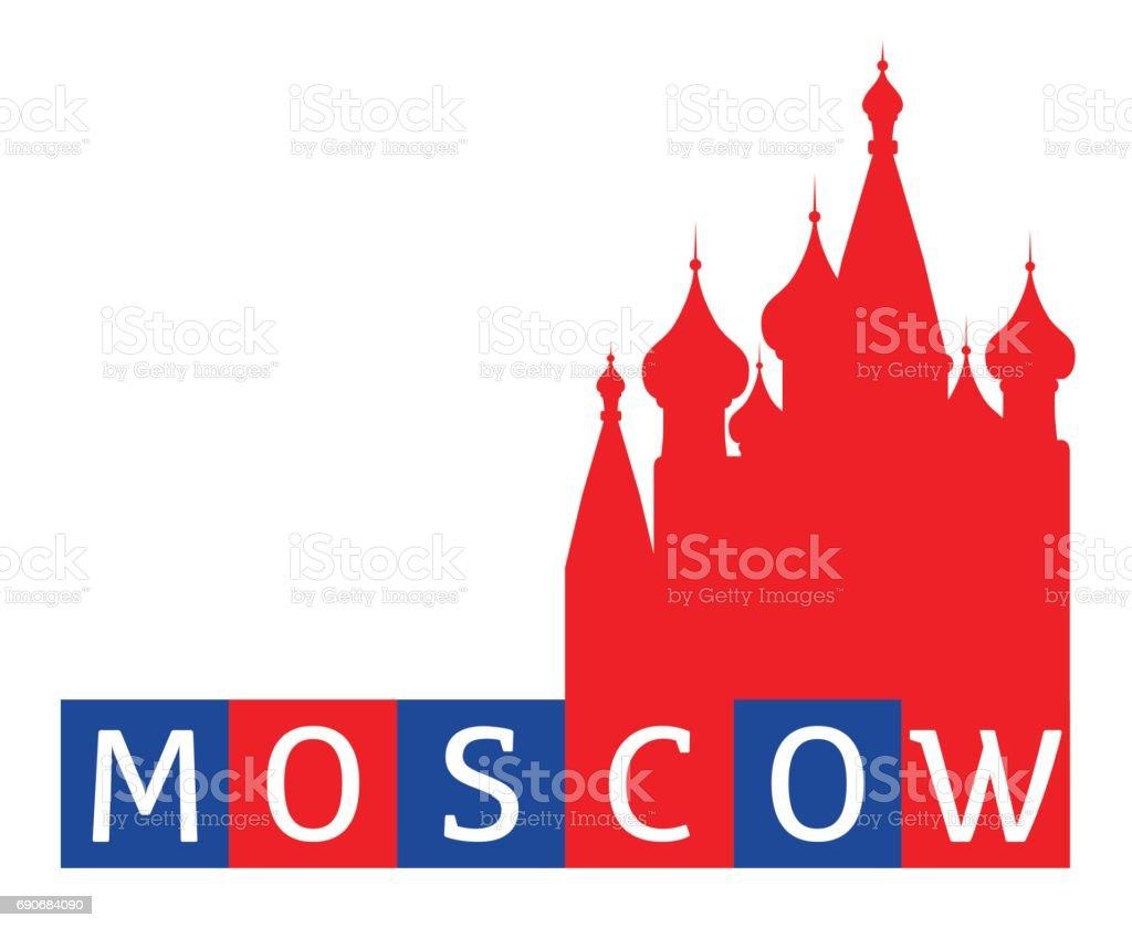 Moskau, Russland – Vektorgrafik