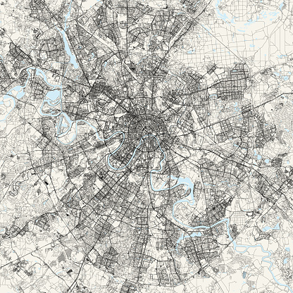 Moscow, Russia Vector Map