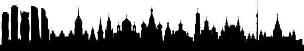 ilustraciones, imágenes clip art, dibujos animados e iconos de stock de moscú (todos los edificios son completa y móvil) - rusia
