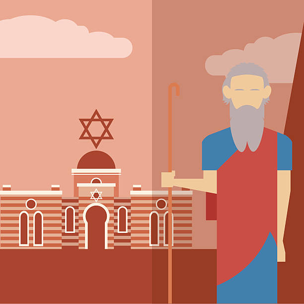 Moses icon 2 Vector image of an icon of Moses moses religious figure stock illustrations