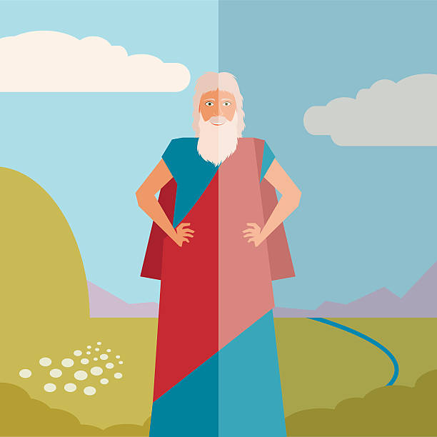 Moses Jew Banner Vector image of the moses Jew Banner moses religious figure stock illustrations