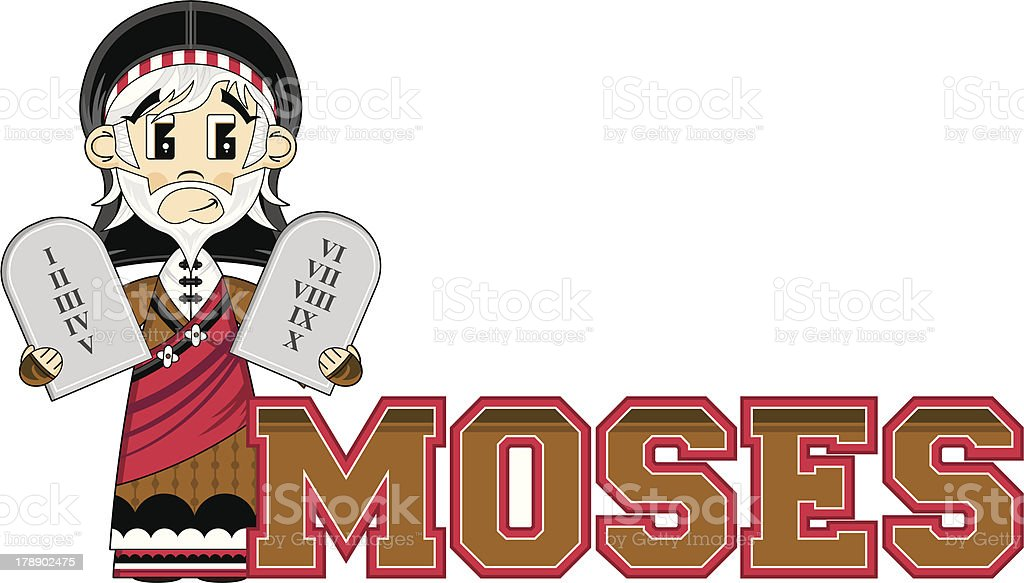 Moses Learn to Read Illustration royalty-free moses learn to read illustration stock vector art & more images of adult