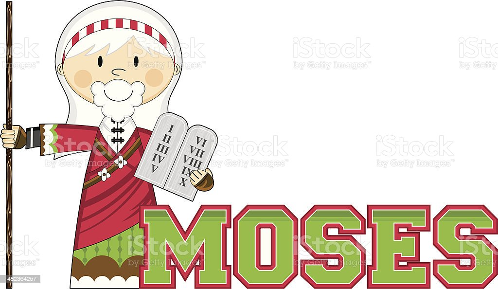 Moses Learn to Read Illustration vector art illustration