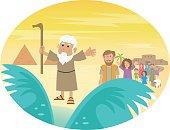 Moses Splitting The Sea