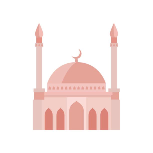 stockillustraties, clipart, cartoons en iconen met de bouw van de moskee beige illustratie van de kleurenvector. de illustratie van de vector op witte achtergrond - oost duitsland