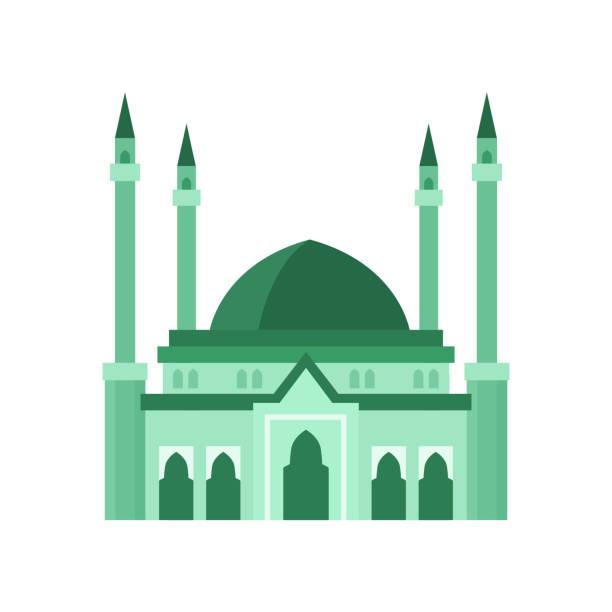 stockillustraties, clipart, cartoons en iconen met de bouw groene illustratie van de moskeevector. de illustratie van de vector op witte achtergrond - oost duitsland