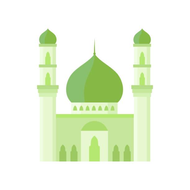 stockillustraties, clipart, cartoons en iconen met de bouw van de moskee lichte groene illustratie van de kleurenvector. - oost duitsland