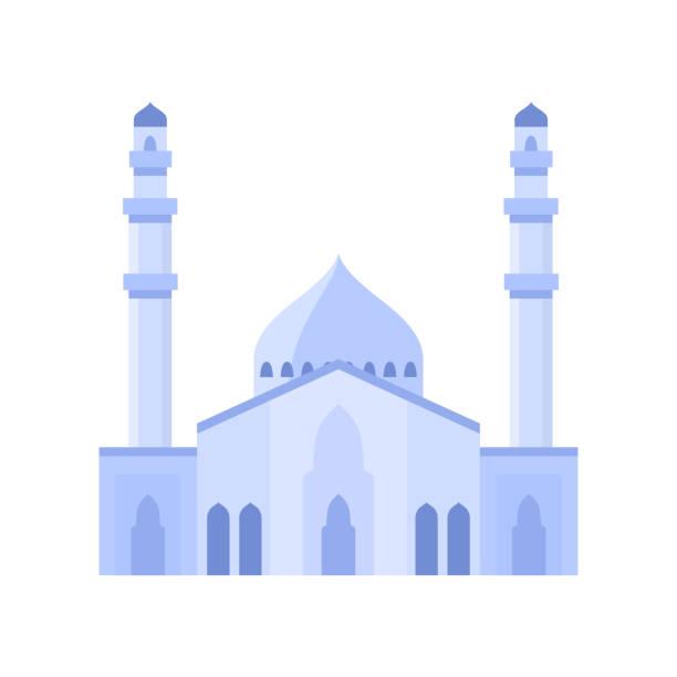 stockillustraties, clipart, cartoons en iconen met de bouw van de moskee lichte purpere illustratie van de kleurenvector. - oost duitsland
