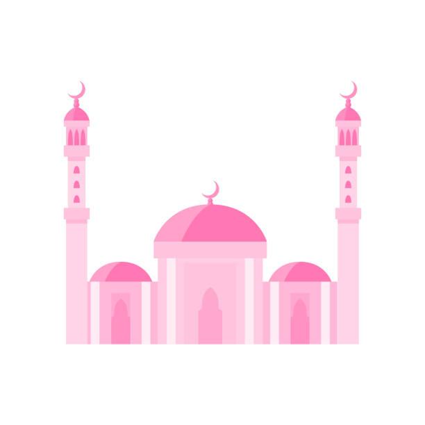 stockillustraties, clipart, cartoons en iconen met de bouw roze illustratie van de moskeevector. de illustratie van de vector op witte achtergrond - oost duitsland