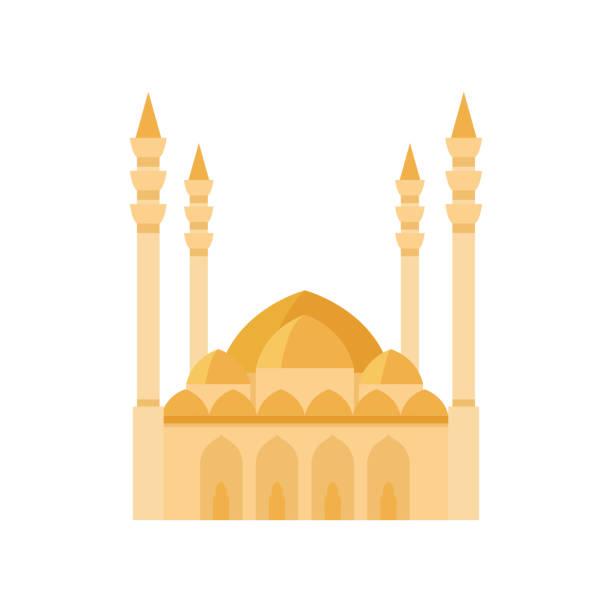 stockillustraties, clipart, cartoons en iconen met de bouw gele illustratie van de moskeevector. de illustratie van de vector op witte achtergrond - oost duitsland