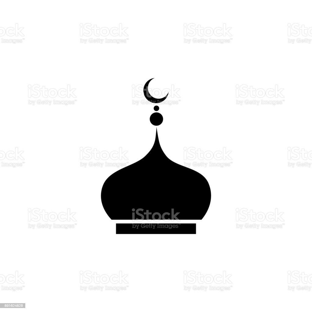 mosque dome icon vector art illustration