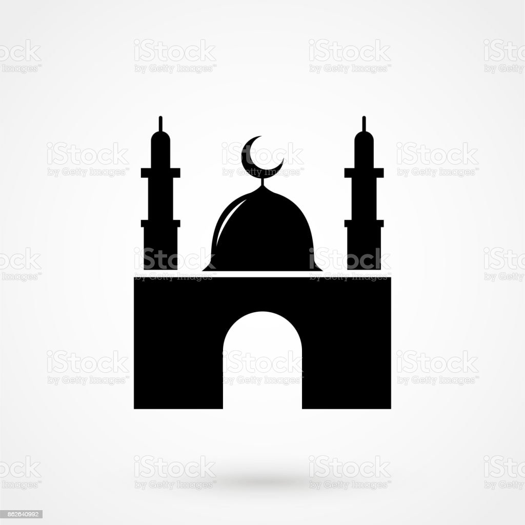 Mosque icon vector art illustration
