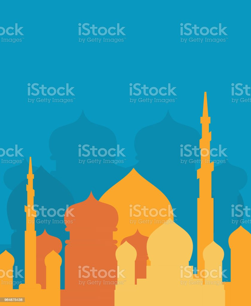 Mosque Islamic religious building. Vector illustration for Muslim holiday Eid Mubarak. Ramadan Kareem Greeting Card royalty-free mosque islamic religious building vector illustration for muslim holiday eid mubarak ramadan kareem greeting card stock vector art & more images of abstract