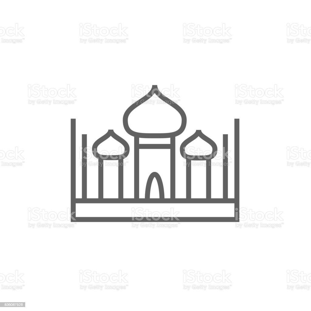 Mosque line icon vector art illustration