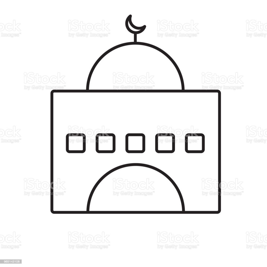 mosque line icon royalty-free mosque line icon stock vector art & more images of architecture