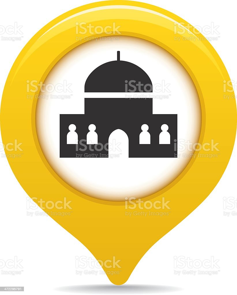 Mosque map pointer royalty-free stock vector art